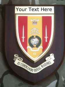 43 Commando Royal Marines Personalised Military Wall Plaque
